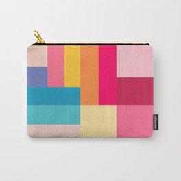 Color Stripes: Bubblegum Pink Carry-All Pouch