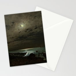 The Far Place Under Moonlight landscape painting by Magnus Munsterhjelm Stationery Cards