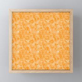 Yellow abstract Framed Mini Art Print