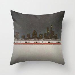 Train Scene Throw Pillow