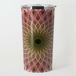 Detailed mandala in gold and red ones Travel Mug