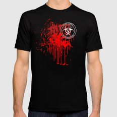 Zombie Outbreak First Response Team Mens Fitted Tee MEDIUM Black