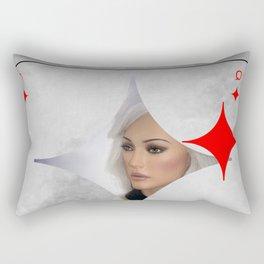 queen of diamonds Rectangular Pillow