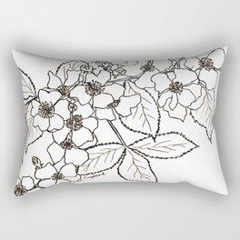 Vine Roses Rectangular Pillow