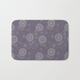 Folky Lace Flowers Bath Mat