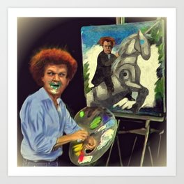 Steve Brule paints Art Print