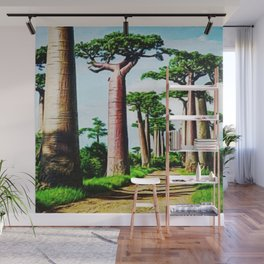 The Disappearing Giant Baobab Trees of Madagascar Landscape Painting Wall Mural
