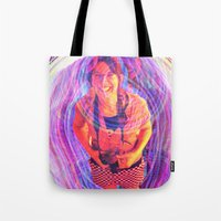 wasted rita Tote Bags featuring Rita by Karl Doerrer-Attaway