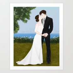 valentine kiss #1 Art Print