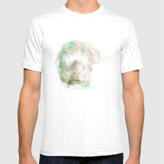 Silence #1 Mens Fitted Tee MEDIUM White