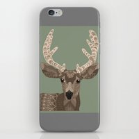antlers iPhone & iPod Skins featuring Antlers by ArtLovePassion