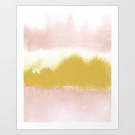 Blush & Gold Rush Art Print