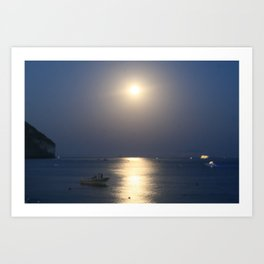 blue moon 4571 Art Print