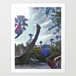 Jurassic Voyage! Art Print