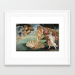 The Birth of Venus by Sandro Botticelli, 1445 Framed Art Print