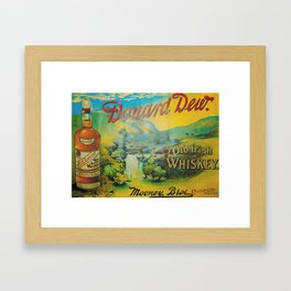 Old Whiskey Framed Art Print