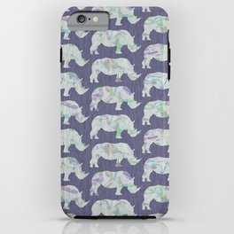 speckled rhinos iPhone Case