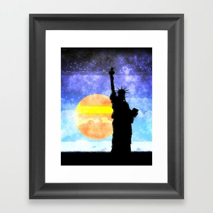 Majestic Lady Liberty Framed Art Print