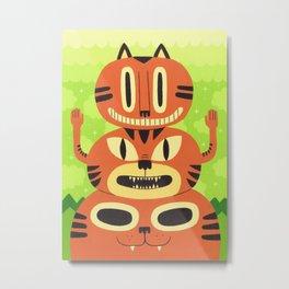 Totem Cat Metal Print