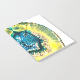 Blue and Yellow Agate Notebook