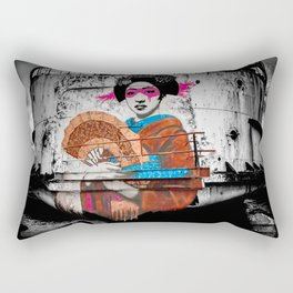 Geisha Graffiti Rectangular Pillow