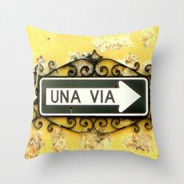 Una Via Throw Pillow