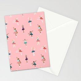 Ballerina pattern Stationery Cards