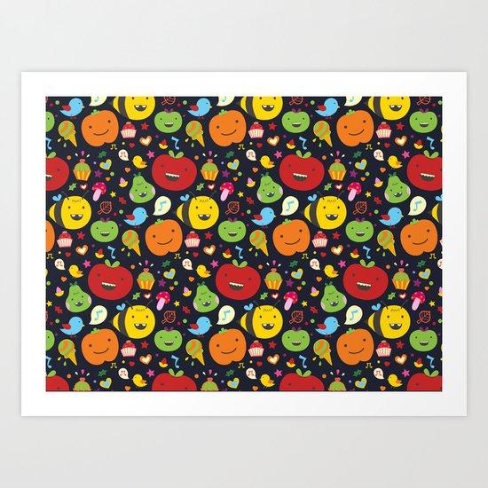Fruticas pattern Art Print