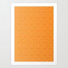 Scaled Orange Pattern Art Print