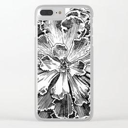 Echeveria engraving Clear iPhone Case