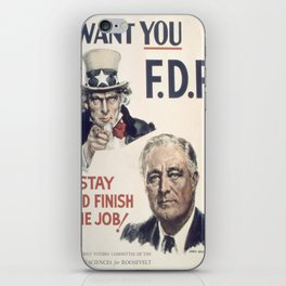 Vintage poster - I Want You FDR iPhone Skin