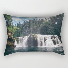 Lower Lewis River Falls Rectangular Pillow