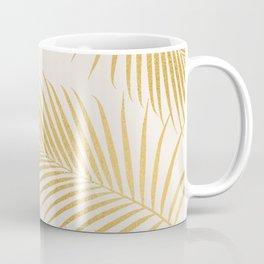 Metallic Gold Tropical Palm Fronds Coffee Mug