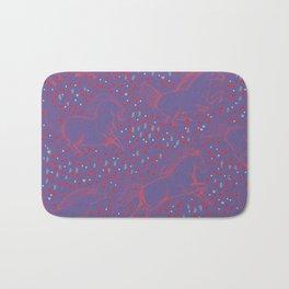 Wild Horses by Friztin - Ultra Violet Bath Mat
