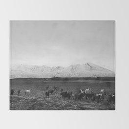 The herd Throw Blanket