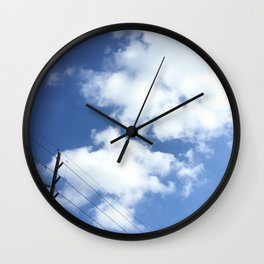 Day Cloud - Electric Pole Wall Clock