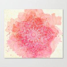 Pink Watercolor Mandala #lifestyle #society6 Canvas Print