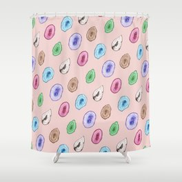 Watercolor Agate Shower Curtain