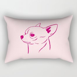Chihuahua (Pink and Berry) Rectangular Pillow