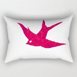 Triangulate Bird Rectangular Pillow