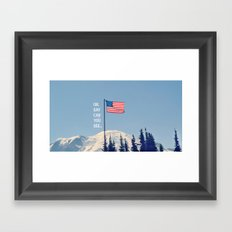 Oh Say Can You See Framed Art Print