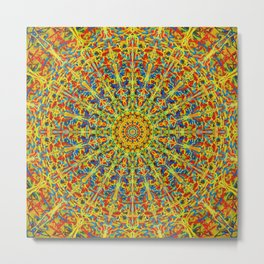 Hot And Spicey Kaleidoscope Metal Print
