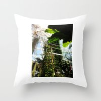 onward Throw Pillows featuring Onward and Outward by CP DESIGN