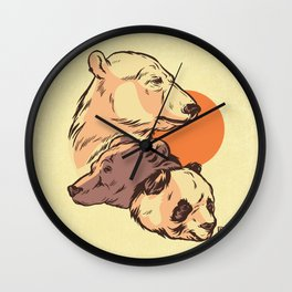 We Bare Bears Wall Clock