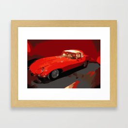 Car | Cars | Vintage 1969 Jaguar  | Nadia Bonello Framed Art Print