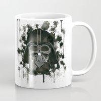 dark side Mugs featuring Dark side by Gilles Bosquet