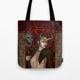 Wonderful dark fairy with skull Tote Bag