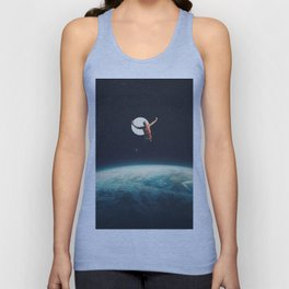Returning to Earth with a will to Change Unisex Tank Top
