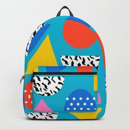 Airhead - memphis retro throwback minimal geometric colorful pattern 80s style 1980's Backpack