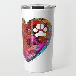 Dog Art - Puppy Love 2 - Sharon Cummings Travel Mug